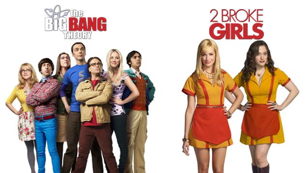 THE BIG BANG THEORY VI + 2 BROKE GIRLS V